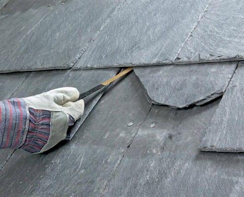 Broken slate roof tile repair in Chelmsford.