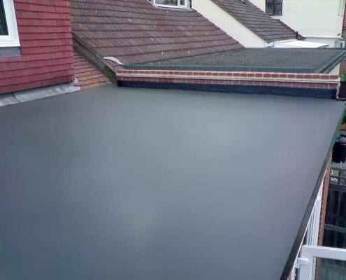 Rubber EPDM flat roof in Chelmsford.