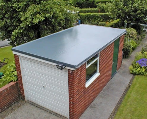 Flat roof on garage in Chelmsford.
