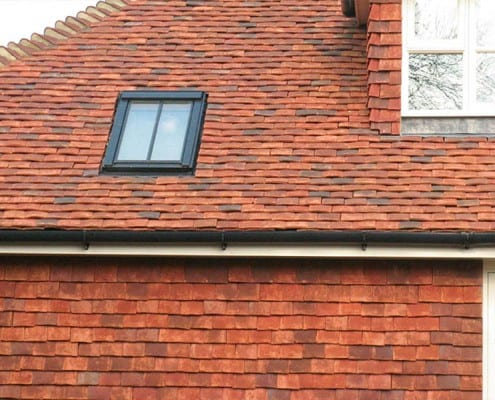 Hand made clay tiled roof in Chelmsford.