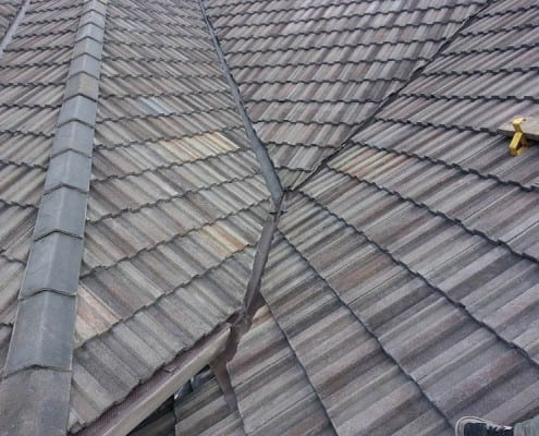 Interlocking concrete tiled roof in Chelmsford.